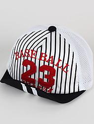 Kids' Cap Number Patch Striped Pattern Soft Brim Mesh Baseball Cap