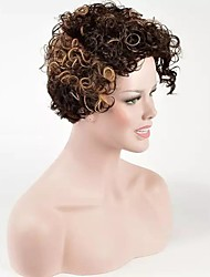 Afro Curly Hair Heat Resistant Fashion Capless Wig for American and European Women Short Length On Sale Popular Design