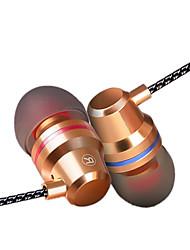 Auriculares estéreo en auriculares auriculares de alta fidelidad con reducción de ruido para auriculares con micrófono