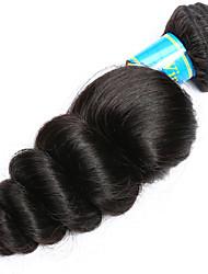 Cabelo Humano Ondulado Cabelo Indiano Ondulação Larga 12 meses 1 Peça tece cabelo