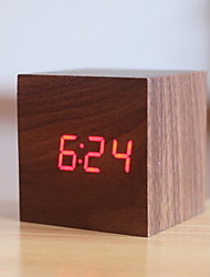 Digital Wood Alarm clock,LED