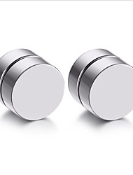 Mens Earring Set Stainless Steel Circle Magnetic Clip Stud Earrings Magnet Fake Plugs No Piercing Clip On Unisex Jewelry