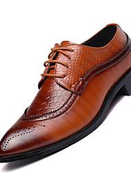 Masculino sapatos Pele Real Todas as Estações Conforto Oxfords Para Casual Preto Marron Vinho