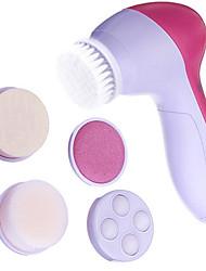 5en1 multi-fonctionnel de cuticules pores du visage propre et visage masseur avec 5 tête (alimenté par 2 piles AA)