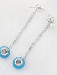 Drop Earrings Women's Girls' Opal Korean Style Delicate Friendship Opal Boll Movie Jewelry  Fashion