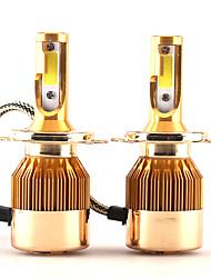2017 nouveau 2 pcs 30w 3000lm h4 9003 hb2 kit phare lonowo cob chip super brillant 6000k lampe frontale blanche