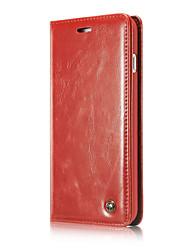 Per iphone7 più casi magnetici del flip per la cassa del cuoio genuino di lusso del iphone7 funda