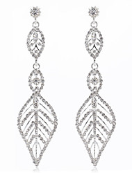 New-style Luxury Leaves Hollowed-out Earrings