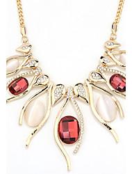 Жен. Заявление ожерелья Бижутерия В форме сердца Бижутерия Хрусталь Сплав Уникальный дизайн Euramerican бижутерия Мода Бижутерия