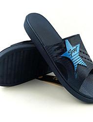 Men's Slippers & Flip-Flops Comfort PVC Spring Casual Screen Color Dark Grey Navy Blue Flat