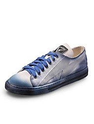 Men's Sneakers Comfort Canvas Spring Fall Casual Wedge Heel Blue 1in-1 3/4in