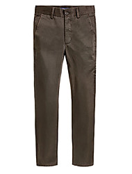 U&Shark Men's Thick Light Khaki Casual Business Pants Trousers for Fall Winter/xxk-010