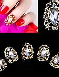 5 pcs estilo elegante oco diamante falso prego patch decoração de unhas 3d
