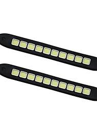 2pcs check cob flexible coulissant LED Daylight Running 100% imperméable à l'épreuve des feux de la journée de cob lumière flexible