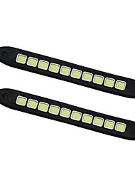 2pcs Check COB Bendable Led Daytime Running light 100% Waterproof COB Day time Lights flexible LED Car DRL Driving DC12V