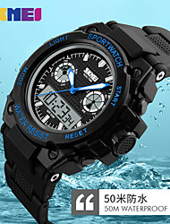 Women's Men's Digital Quartz Watch Big Dial 50M Waterproof LED Clock Dual Display Sports Watches