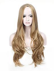 Ladies Women Party Curly Hair Full Wig Daily Wearing Heat Resistant Cosplay Blonde Color Synthetic Wigs