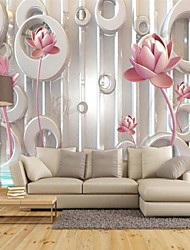 Special Design Flower/Floral 3D Print Wallpaper For Home Modern/Contemporary Wall Covering  Canvas Material Adhesive required WallpaperXXXL416*254cm