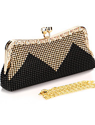 Women Evening Bag Polyester All Seasons Wedding Event/Party Formal Party & Evening Club Minaudiere Rhinestone Sequined Kiss LockRuby