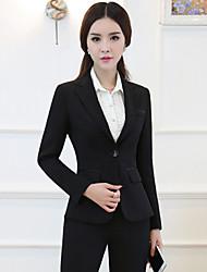 Women's Work Simple T-shirt Skirt Suits,Solid V Neck Long Sleeve Rivet