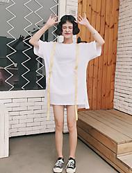 Tee-shirt Femme,Imprimé Quotidien simple Manches Courtes Col Arrondi Autre
