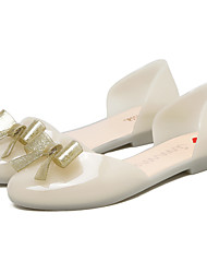Women's Sandals D'Orsay & Two-Piece Jelly Shoes PVC Spring Summer Casual Outdoor Dress Flats with Bowknot White/Black/Pink/Fuchsia