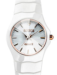 Women's Fashion Watch Japanese Quartz Digital Ceramic Band White
