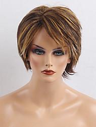 Raios oblíquos de moda natural perucas curtas de cabelo humano