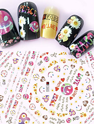 1pcs Fashion Lovely Style Creative Decoration Lovely Expression Beautiful Flower Design Nail Art 3D Stickers For Nail DIY Beauty F085