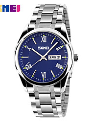 SKMEI  Luxury  Brand Men's Dress Watch Date Stainless Steel Luminous Hour Clock Casual Sport Wristwatch