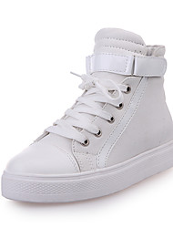 Dames Platte schoenen Comfortabel PU Lente Causaal Comfortabel Platte hak Wit Plat