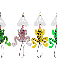 4pcs Style Rubber Frog Shape Soft Fishing Lures Bass Crank Bait Tackle Hooks Fishing Accessories