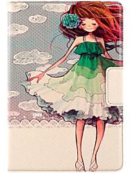 Pour apple ipad mini housse casque 3/2/1 avec stand auto sommeil / réveil flip motif magnétique carrosserie pleine peau sexy femme hard pu