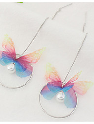 New Drop Earrings Lady Girls' Euramerican Fashion Sweet Butterfly Peal Long Drop Earrings Party Daily Business Movie Gift Jewelry