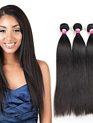 Remy Unprocessed Virgin Hair Brazilian Straight Human Hair Weave 3 Bundles Top Quality Brazilian Virgin Hair 300g