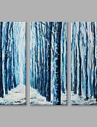 Pintados à mão Paisagens AbstratasArtistíco Modern 3 Painéis Tela Pintura a Óleo For Decoração para casa