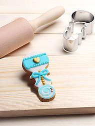 1 выпечке Mold Спящий ребенок Для торта Для шоколада Для получения хлеба Для Cookie Для Sandwich Нержавеющая стальСделай-сам 3D Высокое