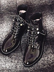 Women's Boots Comfort Cowhide Fall Winter Casual Black 1in-1 3/4in