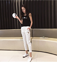 Women's Low Rise Inelastic Skinny Pants,Simple Slim Solid