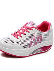 Для женщин Спортивная обувь Удобная обувь Светодиодные подошвы Тюль Весна Лето Осень Для прогулок Повседневный Для занятий спортомДля