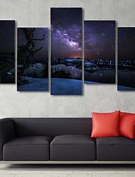 Estampados de Arte Paisagem Tradicional,5 Painéis Horizontal Impressão artística Decoração de Parede For Decoração para casa