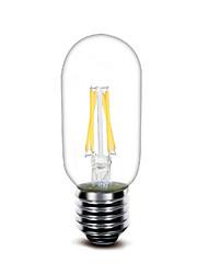 3W E27 Lampadine LED a incandescenza T 4 COB 400 lm Bianco caldo Decorativo AC220 V 1 pezzo