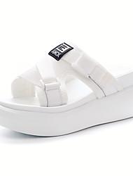 Women's Sandals Summer Gladiator Fabric Casual Wedge Heel Black White