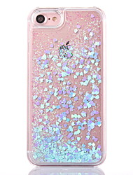For iPhone X iPhone 8 iPhone 8 Plus iPhone 5 Case Case Cover Flowing Liquid Transparent Back Cover Case Glitter Shine Hard PC for iPhone