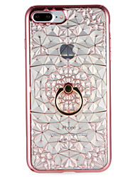 Case for Apple iPhone 7 7Plus Geometric Pattern Ring Holder Soft TPU Back Cover for iPhone 6s Plus e 6 Plus  6s  6