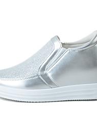 Для женщин Мокасины и Свитер Удобная обувь Ткань Весна/осень Повседневные Для прогулок Удобная обувь Комбинация материалов МикропорыБелый