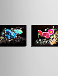 E-HOME Stretched Canvas Art  Flowers In The Dark Decoration Painting One Pcs