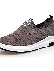 Hombre Zapatos de taco bajo y Slip-Ons Confort Tul Verano Casual Confort Tacón Plano Negro Azul Oscuro Gris Plano