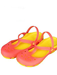 Women's Sandals Comfort Jelly Shoes Hole Shoes Rubber Spring Casual Fuchsia Yellow Orange Flat