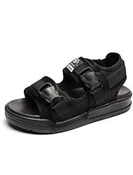 Women's Sandals Gladiator PU Spring Summer Casual Dress Gladiator Buckle Flat Heel White Black Flat